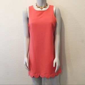 Monteau Dresses  Bright Salmon Stretch Shift Dress